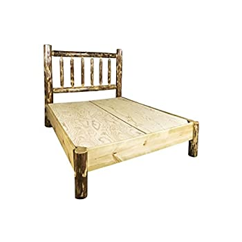 Montana Woodworks MWGCPBQ Glacier Country Collection Queen Platform Log Bed