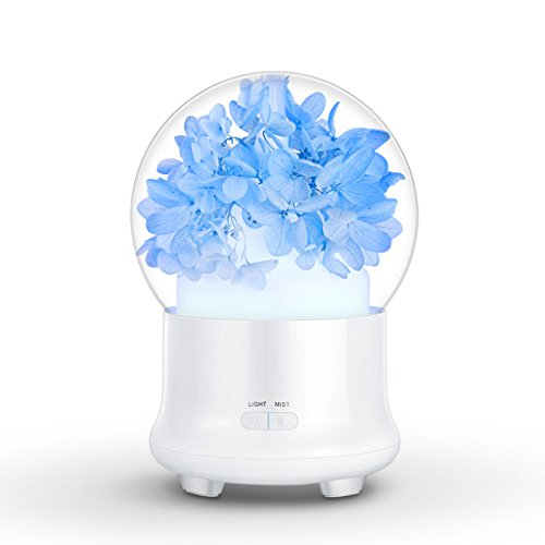 QIHANG Electric Aromatherapy Ultrasonic Humidifier Essential oil Aroma Diffuser Led Mist Maker Fogger Mini Portable Car Air Humidifier (blue Pink) (Color : -