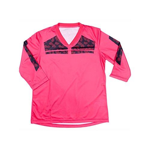 Sombrio Tyvekia Jersey - 3/4-Sleeve - Women's Volt/Black, S by Sombrio