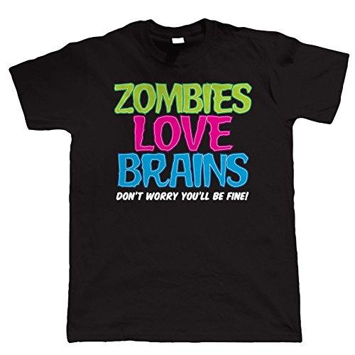 Vectorbomb, Zombies Cerveau D'amour, Des Hommes De Chemise Drôle T (s À 5xl)
