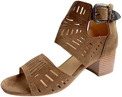 c24ff22dc8393 Shopping Brown - Zip or Slip-On & Pull-On - Heeled Sandals - Sandals ...