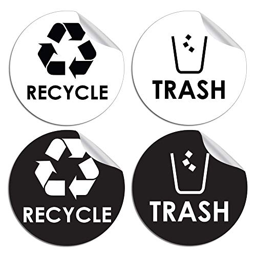 (Recycle Trash Bin Logo Sticker - 4