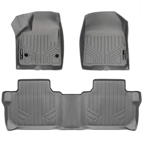 Chevrolet Blazer Floor - MAX LINER A2230-P/B2248-P Gray Custom Fit Floor Mats 2 Row Liner Set Grey for 2019 Chevrolet Blazer