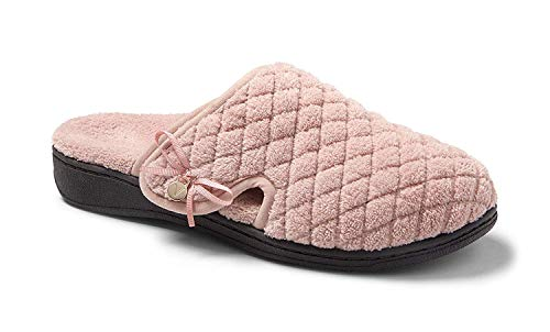 Vionic Women's Adilyn Slipper- Ladies Adjustable Slippers with Concealed Orthotic Arch Support Rose 10 Medium US