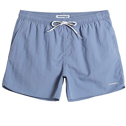 MaaMgic Mens Boys Short Solid Swim Trunks with Mesh Lining Quick Dry Mens Bathing Suits Swim Shorts, -