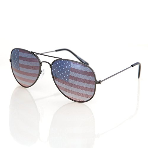 Shaderz USA America Aviator Sunglasses Gunmetal Color Frame