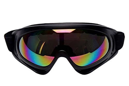 [ALLMILL UV Protection Outdoor Sports Ski Glasses Windproof Snowmobile Bicycle Motorcycle Protective Glasses Ski Goggles-CS Army Tactical Goggles (Colorized)] (Prizm Cylinder Head)