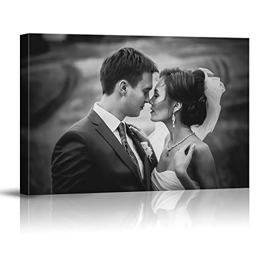 (SIGNFORD Custom Canvas Prints, Wedding Photos Personalized Poster Wall Art with Your Photos Framed Digitally Printed)