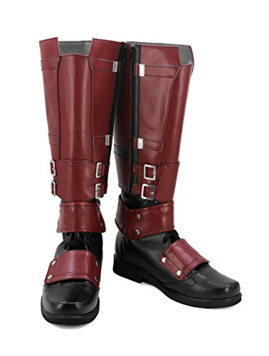 veribuy Halloween Men Hero Cosplay Shoes Guardian Costume Red Cosplay -