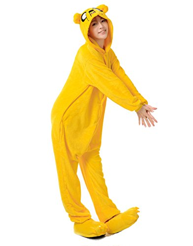 VU ROUL Adult Halloween Costumes Kigurumi Onesies Pajama Cosplay Unisex Lounge Size L Yellow for $<!--$26.99-->