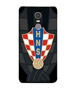 ColorKing Football Croatia 09 Black shell case cover for Lenovo K6 Note