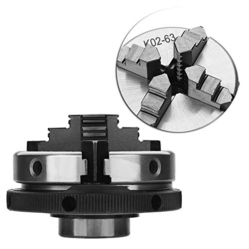 4-Jaw Self-Centering Chuck Set, 1pc 4-Jaw K02-63/M14 Self-Centering Manual Lathe Chuck for Woodworking