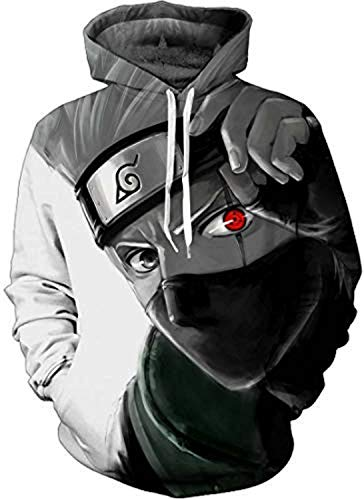 JANDZ] Naruto Hoodie, 3D Print Double Layer Hoodie, Different Character Option at Amazon Mens Clothing store: