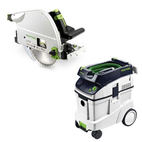 Saw Eq Plunge (Festool TS 75 EQ Plunge-Cut Saw with T-Loc plus CT 48 Dust Extractor Package)