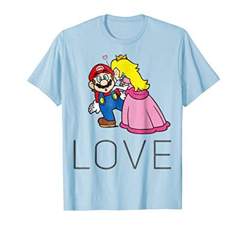 Super Mario Princess Peach Kiss Love Graphic T-Shirt ()