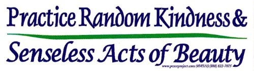 Peace Resource Project Practice Random Kindness & Senseless Acts Of Beauty - Small Bumper Sticker/Decal (6.25