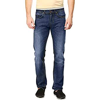 Web Denim Blue Straight Jeans Pant For Men