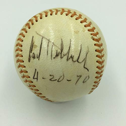 Vintage 1970 Carl Hubbell Single Signed Baseball Pre Stroke Signature JSA COA