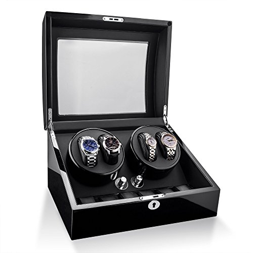 Watch Winder For Rolex Automatic Watches,Wood Shell + Piano Paint +Japanese Motor by TRIPLE TREE (Image #2)