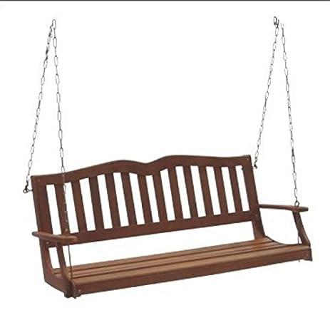DC America SES902, Sequoia Porch Swing, Hardwood Finish