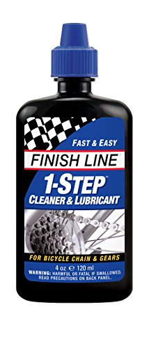 (Finish Line 1-Step Bicycle Chain Cleaner & Lubricant 4oz Squeeze Bottle)