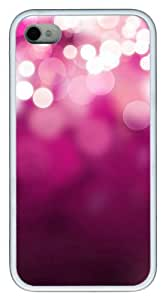 iphone 4 cases wholesale White dot pinks TPU White for Apple iPhone 4/4S