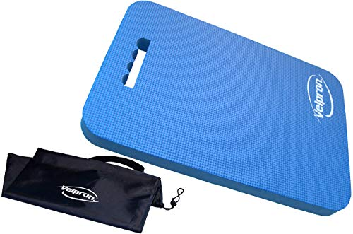 Velpron Thick Kneeling Pad for Gardening | Kneeler Mat for Women and Man | Mat for Sitting, Exercise, Construction Work, Elbow Rest, Yoga | Extra Large (XL) 16x11, HIGH Density 60g/mc (Blue)