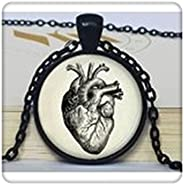Anatomical Heart Pendant Anatomical Heart Necklace Anatomical Heart Jewelry for Men