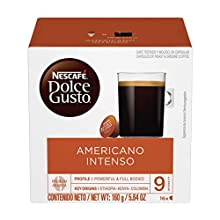 Nescafe Dolce Gusto Coffee Pods, Americano Intenso, 16 capsules, Pack of 3