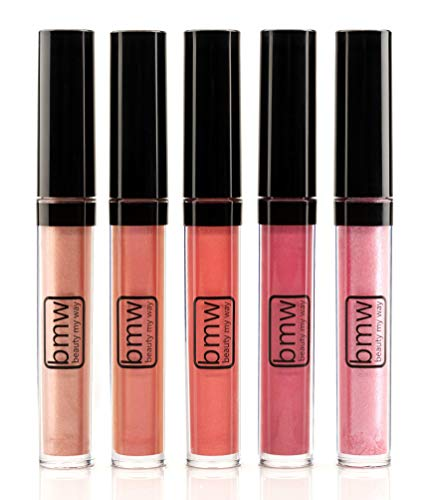 5 PCS LIP GLOSS SET PROFESSIONAL HIGH SHINE SHIMMERING MUST HAVE SHADES