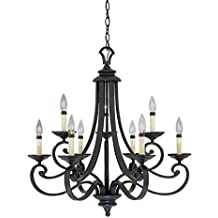 Designers Fountain 9039-NI Barcelona 9-Light Chandelier, Natural Iron