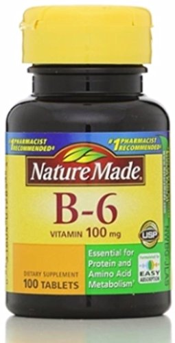 Nature Made Vitamin B-6 100 mg Tablets 100 ea (Pack of 3)