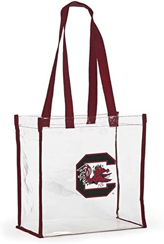 Desden Open Top Stadium Tote Clear with Long Handles for South Carolina Gamecocks Fans.