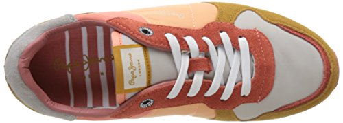 Pepe Jeans Dame Verona W Farver Sneakers Mehrfarbig (lys Solnedgang) 5mY7UEaviq