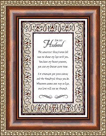 US Gifts for My Husband Eloquence Frame Lakeside Design-Licensee Heartfelt x