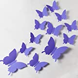 24pcs 3D Butterfly Removable Mural Stickers Wall
