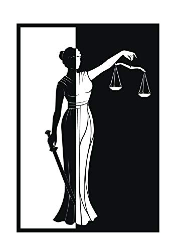 Metal Wall Art Lady Justice Themis-III Design/Unique Gift/Lawyer Office Gift/Law Theme Accessories//Metal - Lady Justice Art