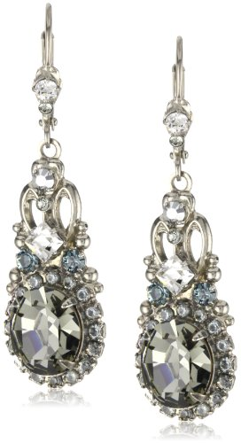 Pewter Dangle Pierced Earrings - Sorrelli