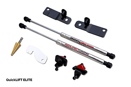 Redline Tuning 21-11030-03 Ford Mustang Shelby GT350 Hood QuickLIFT ELITE Bolt-in Struts - Stainless Steel & Compatible With GT350 Hoods Shelby Mustang Hood