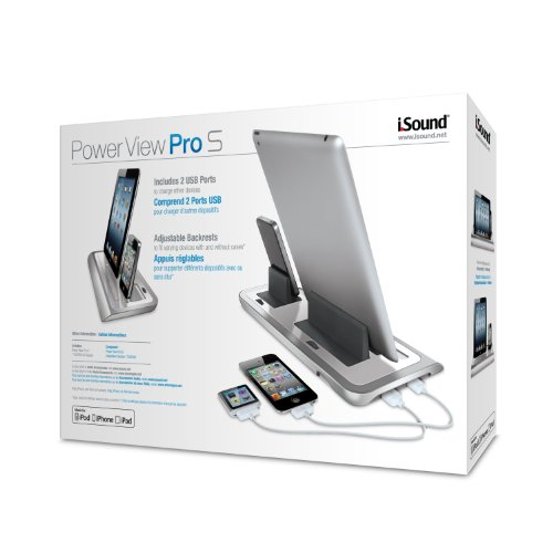 iSound Power View Pro S Charge and View Dock with 2 Apple 30 Pin Charge for iPad 1 2 & 3, all iPhones (except for iPhone 5 and above) , all iPod touches and more (white) by iSound (Image #6)