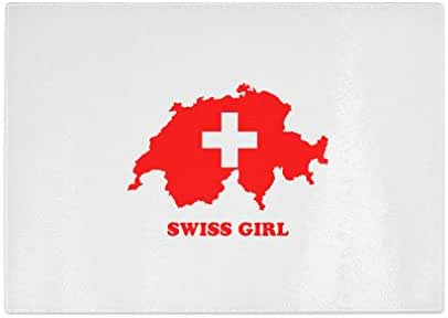 Swiss Girl Kitchen Bar Glass Cutting Board - 11 in x 16 in