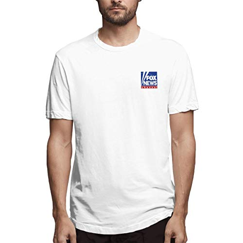 Fox News Channel Logo White Mens Tshirts Junior Solid Cotton T Shirt