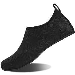 Hmiya Aqua Socks Beach Water Shoes Barefoot Yoga Socks Quick Dry Surf Swim Shoes For Women Men Jh Black 44 45eu