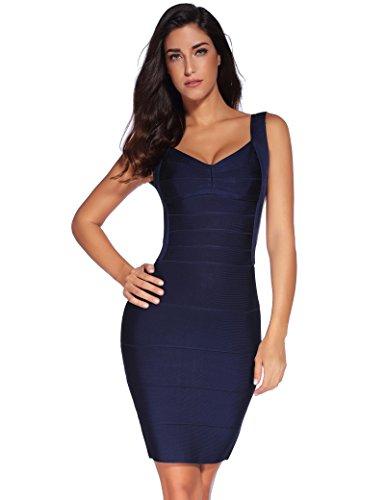 Shownice maniche Donna Senza Vestito Sera Blu ryUc8wgrnq