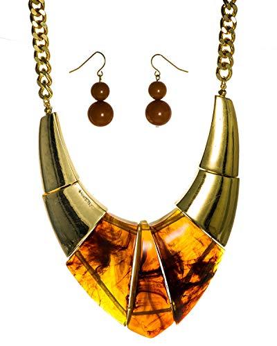 - Jewelry Nexus Brown Tiger Tone Formica 17