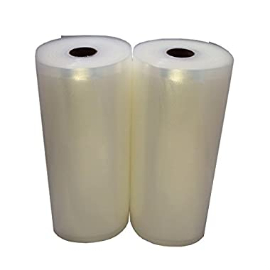 2 Large 8  x 50' Vacuum Saver Rolls Commercial Grade Food Sealer Bags by Commercial Bargains