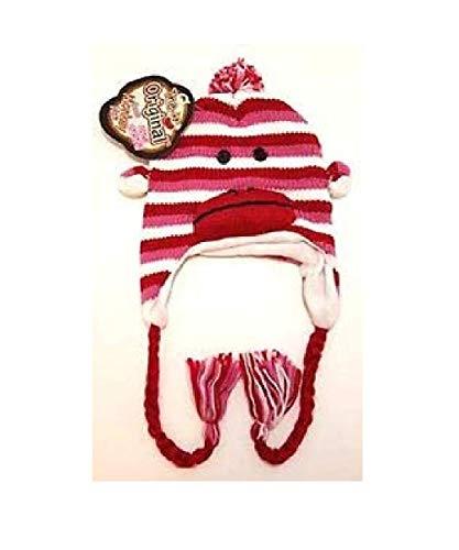 Sock Monkey The Original Pink Stripe Hat -