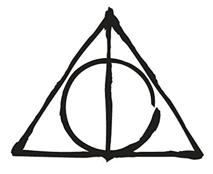 Amazon Deathly Hallows Symbol Harry Potter Hp Wall Decal