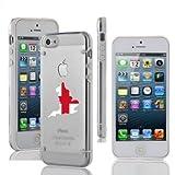 Apple iPhone 6 6s Thin Hybrid Transparent Clear Hard TPU Bumper Case Cover England English Flag (White)