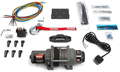 Warn 99389 Vantage 3000-S Winch 3000 lbs./1361 kg 12V Permanent Magnet Motor 50 ft. Synthetic Rope Wired Remote Not Included Vantage 3000-S Winch